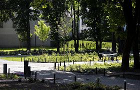 Vilniaus Reformatų parke dar kyla dulkės, bet žadama – bus žaliau nei sovietmečiu