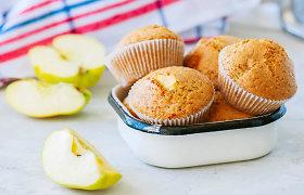 Keksiukai su kriaušėmis, obuoliais, slyvomis ir cukinijomis. 10 receptų