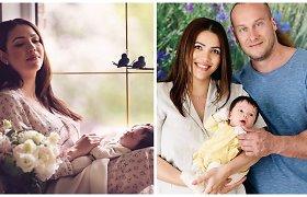 Ilka Adams ir Andrius Pauliukevičius pristatė savo dukrą: pasidalijo pirmagimės nuotraukomis