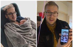 """""""Žemaitukas"""" Linas Vaitkevičius dalyvavo 14 valandų trukusiame sužadėtinės gimdyme"""