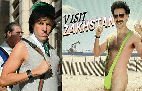 """""""Borato"""" žvaigždė Sacha Baronas Cohenas įsiamžino atviroje reklamoje: vietoje bikinio – veido kaukė"""