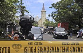 Sprogimą prie bažnyčios Indonezijoje, kaip įtariama, surengė du sprogdintojai