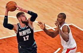 """J.Valančiūnas nesigailėjo bičiulio, o """"grizliai"""" – vienų iš NBA favoritų"""