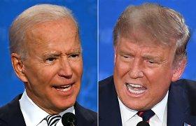 Per paskutinius D.Trumpo ir J.Bideno debatus bus išjungiami mikrofonai