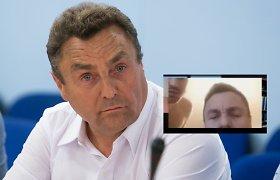 """P.Gražulis – apie pusnuogį asmenį jo bute Seimo viešbutyje: """"Ten buvo kažkoks vyriškis, jo nepastebėjau"""""""