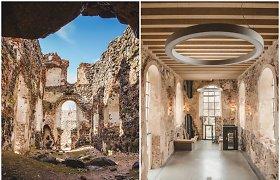 Nuotraukose – kaip iš griuvėsių prikelta Duobelės pilis Latvijoje