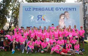 """Aplenkime vėžį"" komanda Vilniaus maratone 2020"