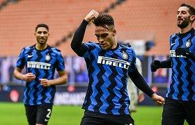 """Įvarčių fejerverku naujus metus pažymėjęs """"Inter"""" pakilo į """"Serie A"""" viršūnę"""
