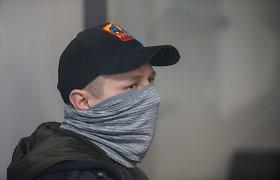 Dėl D.Bugavičiaus nužudymo teisiamas R.Baika pirmąjį teistumą užsidirbo už grotų: grasino pareigūnui išdurti akis