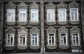 Įspūdinga senoji Tomsko miesto medinė architektūra