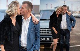 Renginyje pasibučiavę aktoriai E.Latėnaitė ir V.Kupšys užminė mįslę: ką reiškia šis bučinys?