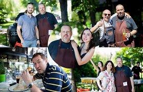 A.Užkalnis su Fausta M.Leščiauskaite vaišino draugus burgeriais