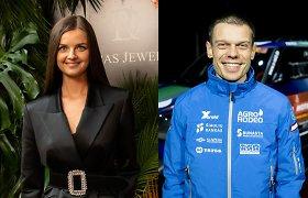 Gabrielė Martirosian ir lenktynininkas Vaidotas Žala tapo pora