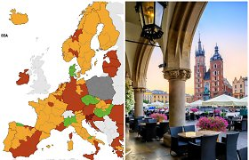 Atnaujintas paveiktų šalių sąrašas: mažėja raudona zona