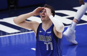 """L.Dončičius įstrigo: K.Leonardo šou išplėšė """"Clippers"""" septintas serijos rungtynes"""