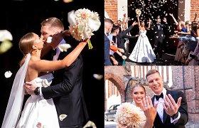 """Bernardinų bažnyčioje ištekėjo verslininkė, """"influencerė"""" Angelė Petručionytė"""