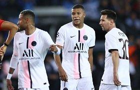 Sensacija UEFA Čempionų lygoje: PSG žvaigždynas užsikirto jau Briugėje