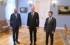 Lietuvos, Ukrainos prezidentai ir EVT pirmininkas dalyvavo trišaliame susitikime