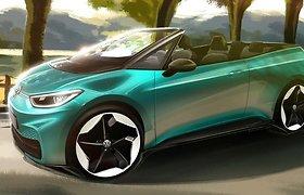 """""""Volkswagen"""" galvoja apie ID.3 kabrioletą: kodėl elektromobilių nukeliamu stogu beveik nėra?"""