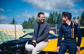"""Mantas Stonkus ir Karolis Raišys Nemuno žiede lenktyniavo """"Jaguar F-Type"""""""