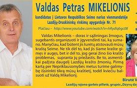 Į Seimą kandidatuojančio Lazdijų vicemero Valdo Petro Mikelionio sūnus išvežtas į Lukiškių tardymo izoliatorių
