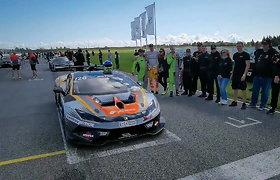 Sportininkų nuotaikos prieš BEC6h lenktynes Pernu trasoje: starto rikiuotė