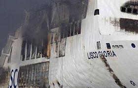 """Autotransporto įmonės ieškinys dėl žalos per gaisrą kelte """"Lisco Gloria"""" – patenkintas"""