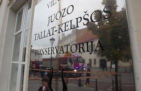 Vilniaus senamiestyje įsikūrusioje J.Tallat-Kelpšos konservatorijoje kilo gaisras