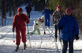 """Šaltis slidininkų negąsdina – trečiajame šiemet """"Snaigės"""" žygyje sulaukta per tūkstančio slidininkų"""