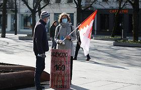 Šančių bendruomenės protestas prie Kauno savivaldybės: 160 kryžių simbolizavo myriop pasmerktus medžius