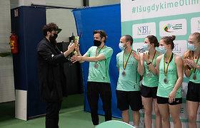 Kaune apdovanoti pirmieji Nacionalinės badmintono lygos čempionai