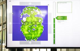 Vilniaus licėjuje pristatyta bekontaktė temperatūros matavimo sistema