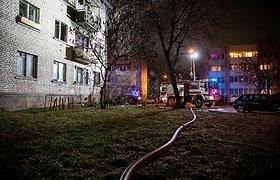 Nelaimė Vilniuje: Lazdynuose per gaisrą žuvo du žmonės