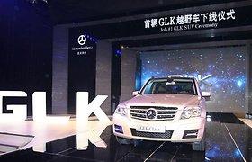 """Pirmasis Kinijoje pagamintas """"Mercedes-Benz GLK"""" nuriedėjo nuo konvejerio linijos"""