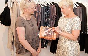 Vilniuje viešėjusi pirmoji Estijos ponia Evelin Ilves apsilankė dizainerės Julijos mados namuose