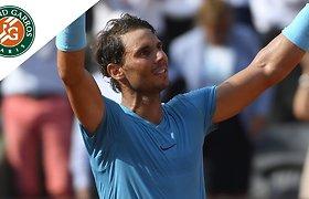 """Rafaelis Nadalis 11-ą kartą žais """"Roland Garros"""" finale"""