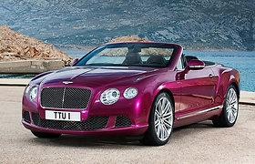 """""""Bentley Continental GTC Speed"""" – greičiausias pasaulyje keturvietis kabrioletas"""