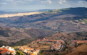 Jaukus Troinos miestelis Sicilijoje