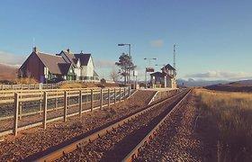 Corrour geležinkelio stotis ir restoranas