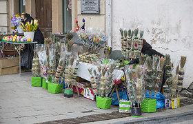 Vilniaus senamiestis Verbų sekmadienio rytą