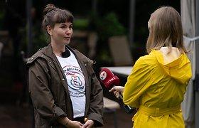 Šeimos Vilniuje rinkosi paminėti Pasaulinės žindymo savaitės