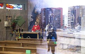Nuotolinės šv. mišios Verbų sekmadienį Vilniaus Šv. Juozapo bažnyčioje