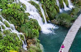 Įstabaus grožio Kroatijos Plitvicos nacionalinis parkas