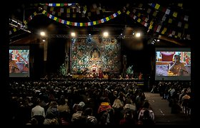 Latvijoje vykusiame susitikime su Dalai Lama netrūko lietuvių