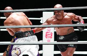 Bokso legendų sugrįžimas: Mike'as Tysonas ir Roy Jonesas