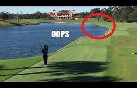 Golfo žaidėjas kamuoliuku netyčia numušė antį