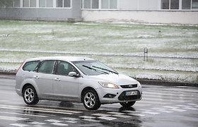 Eismo sąlygas dalyje Lietuvos sunkina buvęs ir besitęsiantis snygis