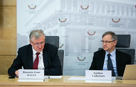 """E.Vareikio ir R.Jono Dagio spaudos konferencija """"Kas bijo Trumpo, lenkų, vengrų?"""""""