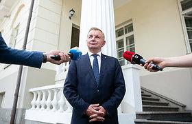 Kandidatas į ekonomikos ir inovacijų ministrus R.Sinkevičius atvyko į Prezidentūrą