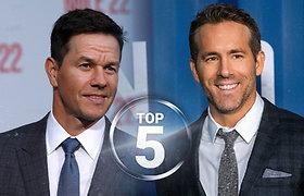"""2020 m. daugiausiai uždirbančių aktorių TOP 5 –  kvapą gniaužiančiomis sumomis jų kišenes papildė """"Netflix"""""""